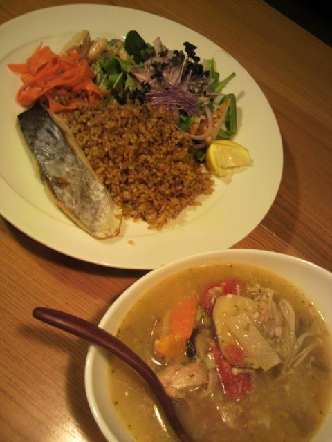 最近はスープと玄米ハーブ御飯