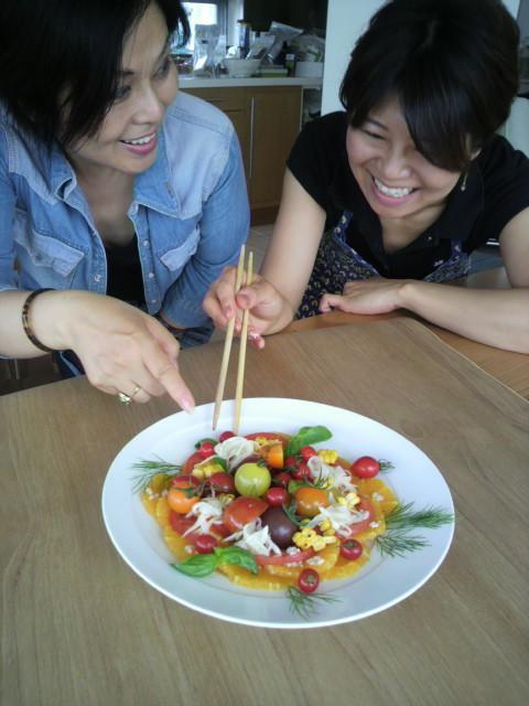サラダ記念日レシピー作り