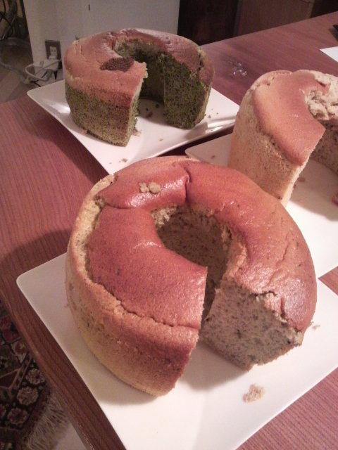 初めてのシホンケーキ完成!